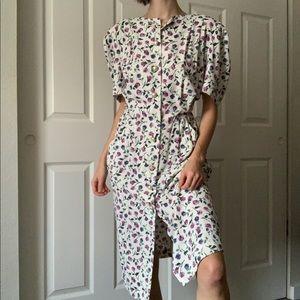 VINTAGE / floral dress